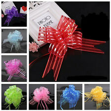 10pcs Pull Flower Ribbon Bow Gift Wrap Festive Gift Packing Decorative Holiday