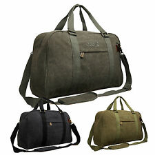 High Quality Mens Womens Canvas Hand Luggage Travel Holdall Gym Flight Cabin Bag