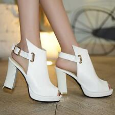Fashion Womens Sexy Open Toe Platform High Heels Pumps Slingback Party Shoes