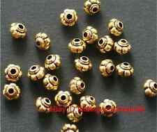 Hot 50Pcs Antique Gold Lantern Shaped Finding Zinc Alloy Spacer Beads 5*4mm New