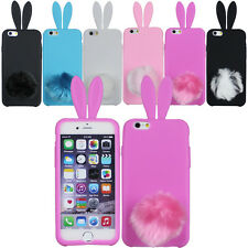 Cute Rabbit Ears Phone Case/Cover With Fluffy Tail for IPhone 6/6s/6Plus/6sPlus