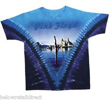 NEW PINK FLOYD DIVER / WISH YOU WERE HERE 2-SIDED TIE DYE T-SHIRT SIZE: M L XL
