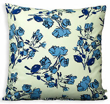 "Cecil Beaton Fabric ""Beatons Bouquet"" Blue Floral Designer Cushion Pillow Cover"