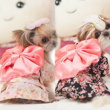Cute Pet Dog Cat Floral Clothes Puppy Japanese Kimono Outfits Costume Dress M67