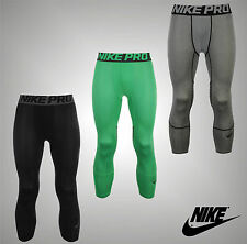 Mens Genuine Nike Base Layer Stretch Hyper Cool 3/4 Training Tights Size S-XL
