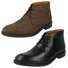 MENS CLARKS LACE UP LEATHER CASUAL FORMAL ANKLE DESERT BOOTS CHILVER HI GTX