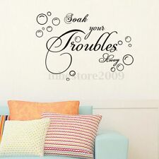 DIY Removable Art Poetry Quote Wall Mural Decal Decor Room Home Vinyl Stickers