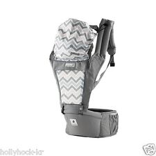 POGNAE ORGA Hipseat Baby Carrier 100% Organic Cotton Reversible Ergonomic Design