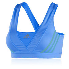Adidas Supernova Racer Womens Blue CLIMACOOL Gym Running Sports Bra Support Top
