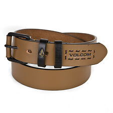 Volcom Leather Belt brown - Marty Leather Belt rust - Unisex for also Girls