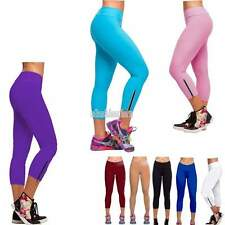 Women's High Waist Fitness YOGA Sports Pants Printed Stretchy Cropped Leggings