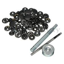 15 Poppers 15mm Snap fastener Press Stud Kit w/Fixing Tool Sewing Leather Craft