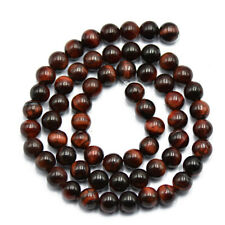 Red Tiger Eye Beads 4/6/8mm Natural Gemstone Round Spacer Loose Beads Strand 15""