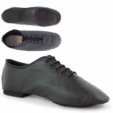 Black Leather Full Sole Dance Childs Ladies Adults By Dance Gear JSRB