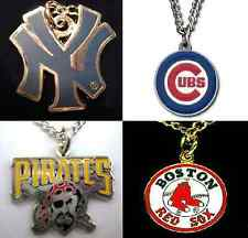 Baseball Team Logo Charm Pendant Necklace - Officially MLB Licensed Jewelry