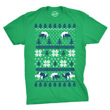Mens Humping Dogs Funny Dog Christmas Ugly Sweater T shirt