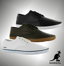 Mens Branded Kangol Casual Canvas Style Laced Kula Vamp Trainers Shoes Size 7-11