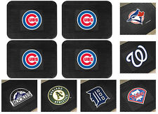 New 4 Piece MLB Baseball Team Logo Themed Vinyl Car Rear Floor Rug Door Mat Set