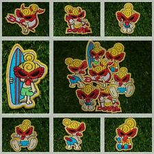 Burning Kids, Devil, Monkey Cartoon Patch Iron Embroidered Applique Sew Badge