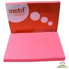 Neon Pink A4 80gsm Fluorescent Day Glow Coloured Colour Paper Sheets Printer