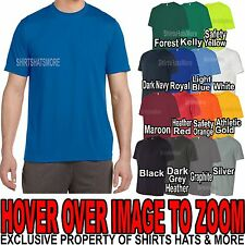 Mens Performance Moisture Wicking Tee Athletic T-Shirt Dry Fit S-XL 2X, 3X, 4X