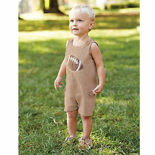 Mud Pie All Boy Baby Boy Football Shortall One-Piece 1032252