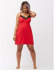 Cacique Bow Back Chemise | 14-16 18-20 22-24 26-28 | Red (K)