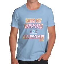 Twisted Envy Men's Both My Mums Are Awesome Cotton T-Shirt