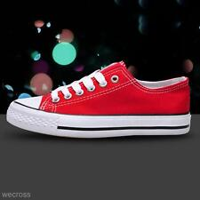 Women's Low Top Casual Athletic Sports Canvas Running Shoes Sneakers Trainers
