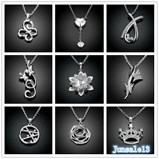 New Arrival Ladys S925 Silver Jewelry Flowers Pendant Chains Necklace Xmas Gift