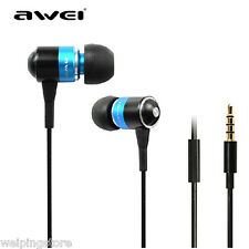 Awei Q3i Stereo HiFi In-ear Metal Super Bass Headphone Earphone with Mic Headset