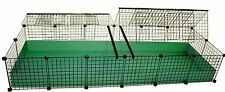 NEW 2x6 Grid Covered C&C Cube & Coroplast Guinea Pig Cage - JUMBO