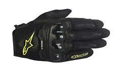 ALPINESTARS Stella SMX-1 AIR Leather/Mesh Riding Gloves (Blk/Yellow) Choose Size