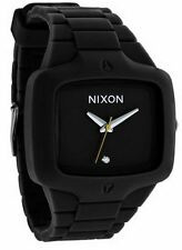 NIXON New RUBBER PLAYER Watch With Diamond Black A13900A