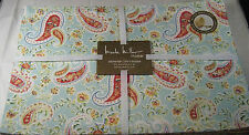 Set of 4 Nicole Miller Indoor/Outdoor Floral Paisley Placemats Water Repellent