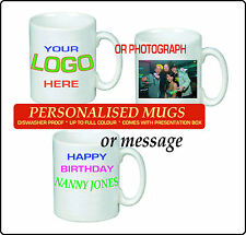 PERSONALISED MUG PRINTED WHITE TEA COFFEE YOUR PHOTO TEXT IMAGE DESIGN GIFT 11OZ