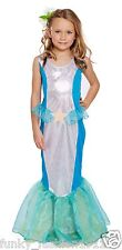 Childrens Girls Book Week Child Mermaid  Princess Costume Fancy Dress Outfit