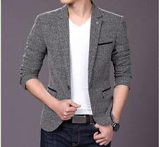 Fashion Stylish Mens Casual Slim Formal One Button Suit Blazer Coat Jacket Tops