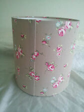 LAMPSHADE MADE FROM Clarke and Clarke  FABRIC( Rose buds TAUPE)