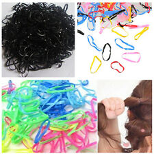 300pcs High Elastic Rubber Hairband Rope Ponytail Holder Hair Band Ties Braids B