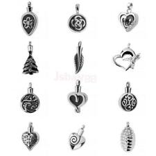 Silver Cremation Pendant Heart Necklace Ash Holder Memorial Keepsake Jewelry