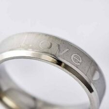 "Womens Fashion Jewelry Couple Stainless steel ""LOVE"" promise Ring Size 7-11 NEW"