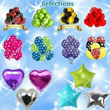 Latex Balloons Hearts Stars Foil Balloons Shower Wedding Birthday Party Supplies