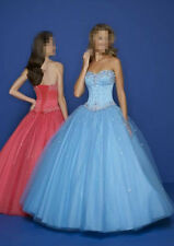 NEW Blue Tulle Formal Bridal Ball Gown Wedding Dress Stock Size 6-8-10-12-14-16