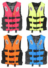 Water Sports Life Jacket Vest Kids Adult PFD Fully Enclosed Size S M L XL XXL