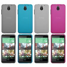 Soft TPU Rubber Gel Case Cover Phone Back Frost Matte Skin For HTC Desire 610