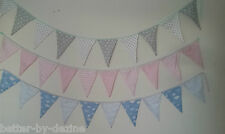 Pink Blue Grey Baby Nursery Babies Bedroom Fabric Bunting Decorative childrens