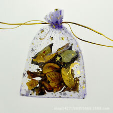 Jewelry Wedding Organza Pouch Charm Moon and Star Purple bags 9 x 12 cm 10 pcs