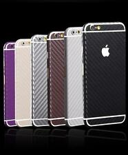 3D Texture Carbon Fibre Full Body Skin Sticker Wrap Cover Decal Case For iPhone