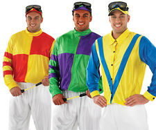 Mens Jockey Fancy Dress Costume Horse Racing Stag Do Outfit Grand National M-XL